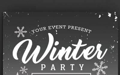 Winter Party Flyer - Corporate Identity Template