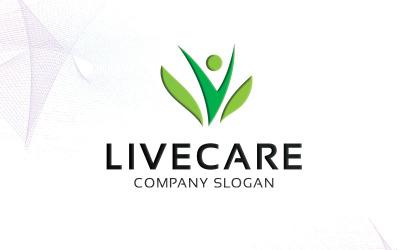 Шаблон логотипа Livecare