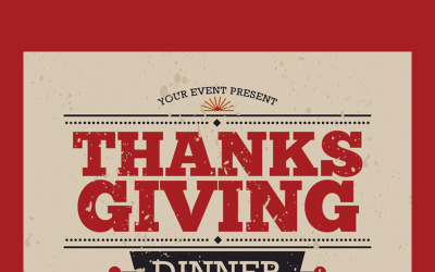 Thanksgiving Dinner Flyer - Corporate Identity Template