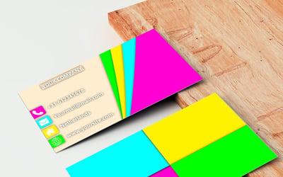 Rainbow businesscard - Corporate Identity Template