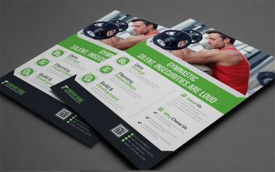 Blue Matt Color Business Flyer - Corporate Identity Template