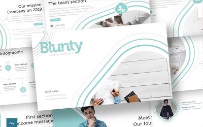 Blunty - Keynote template