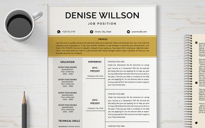 Denise Willson Resume Template