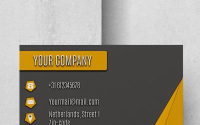 Modern Yellow Company Businesscard - Corporate Identity Template