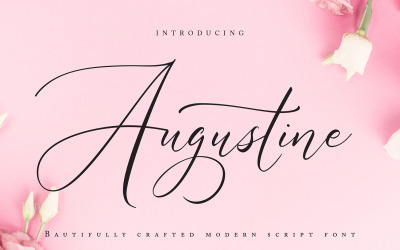 Augustine   Modern Cursive Font