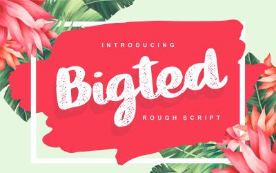Bigted | Rough Cursive Font