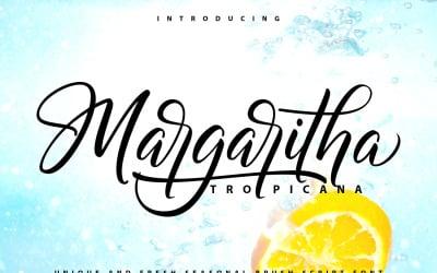 Margaritha-Tropicana | Unique Brush Cursive Font