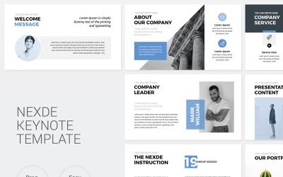 Nexde - Modern Simple clean Business Presentation - Keynote template