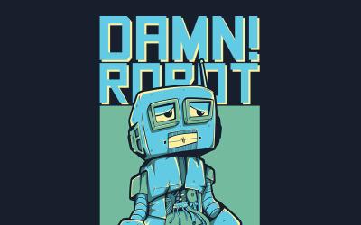 Damn! Robot - T-shirt Design