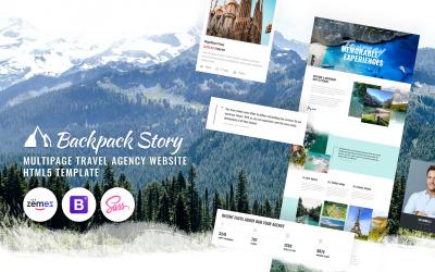 Hátizsákos történet - Online utazási iroda websablonja