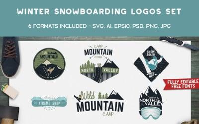Winter Snowboard Designs Logo Template
