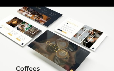 Modelo de PowerPoint de cafés