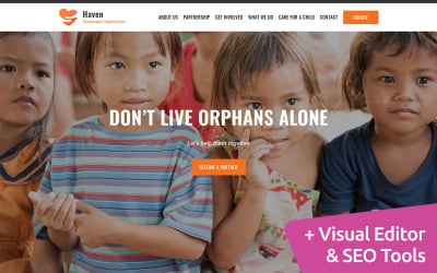 Haven - Orphanage Organization Moto CMS 3 Template