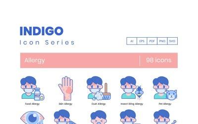 98 Allergy Icons - Indigo Series Set