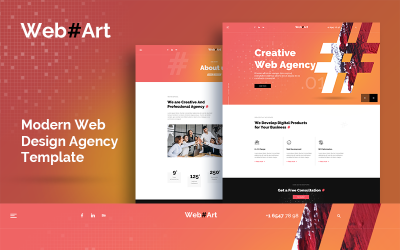 WebArt-网页设计简单创意PSD模板