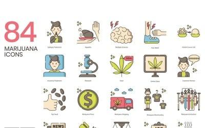 84 Marijuana Icons - Hazel Series Set