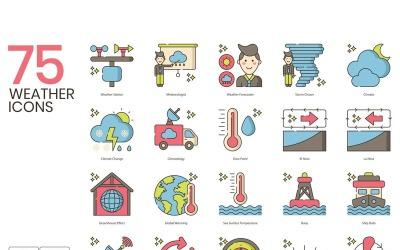 75 Weather Icons - Hazel Series Set