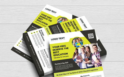 Admission Flyer Vector - Corporate Identity Template