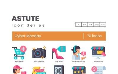 70 Cyber Monday Icons - Astute Series Set