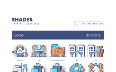 65 Sales Icons - Shades Series Set
