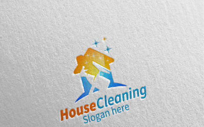 Cleaning Service with Eco Friendly 10 Logo Template
