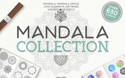 Mandala Collection [ 630 Elements ] - Illustration