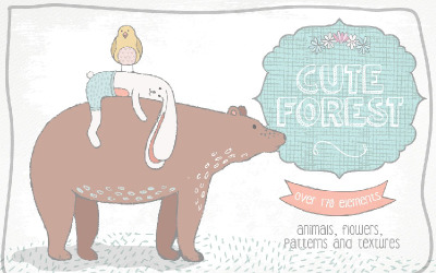 Cute Forest Collection - Illustratie