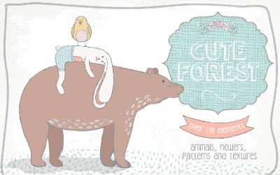 Kolekcja Cute Forest - ilustracja