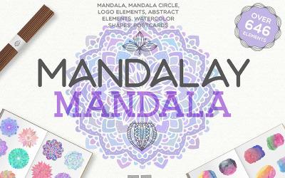 Mandalay Mandala [ 646 Elements ] - Illustration