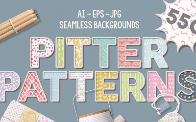 Pitter Patterns Collection - Illustration