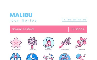 60 Sakura Festival Icons - Malibu Series Set