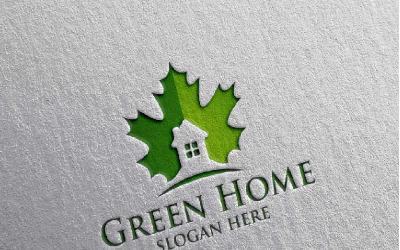 Green Home 10 Logo Template