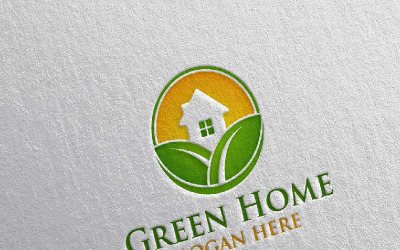 Green Home 11 Logo Template