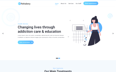 Rehabery Landing page Landing Page Template