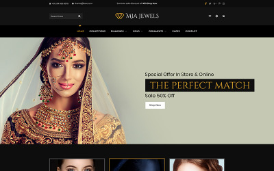 Mia Jewel - Modèle PSD de commerce électronique de bijoux