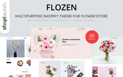 Flozen   Multi-Purpose Flower Store Shopify Theme