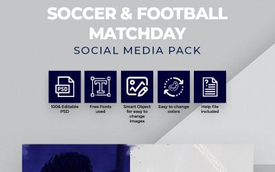 Soccer & Football Matchday Social Media Template