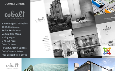 Cobalt - Responsive Architect & Creatives Joomla-Vorlage
