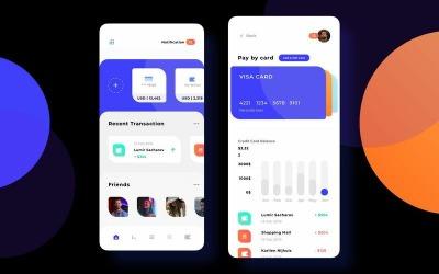Finance Wallet Ligth Mode Ui KitP Sketch Template