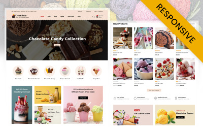 Tema WooCommerce da CreamBella IceCream Store