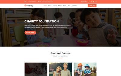 Yardım Vakfı   Charity PSD Şablonu