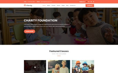 Charity Foundation | Charity PSD Template