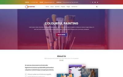 绘画|展览绘画PSD模板