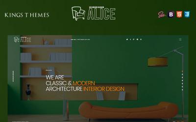 Аліса - Шаблон цільової сторінки з дизайну інтер'єру