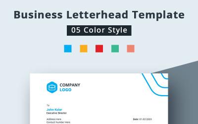 Färgglada brevpapper för företag - mall för företagsidentitet