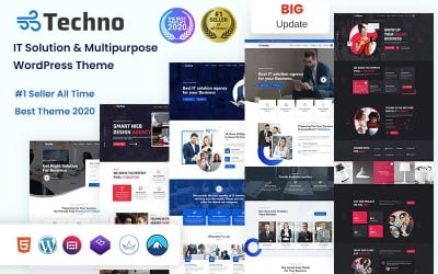 Techno - ИТ-решение и многоцелевая тема WordPress