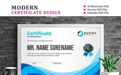 Wavy Design Certificate Template