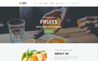 Farm - Food & Drinks Multipage Clean Joomla Theme Joomla Template