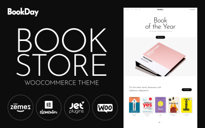 BookDay - Clean and Rapid Online Bookstore Website Design WooCommerce Theme