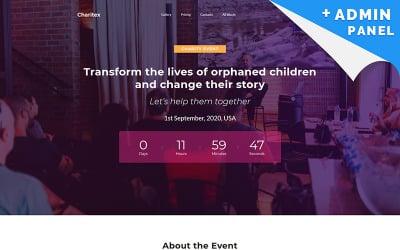 Charitex - Modèle de page de destination du planificateur d'événements